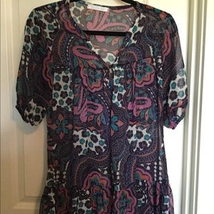 Charlotte Russe Floral Print Tunic